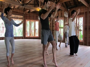 Anthony teaching Tai Chi in Thailand